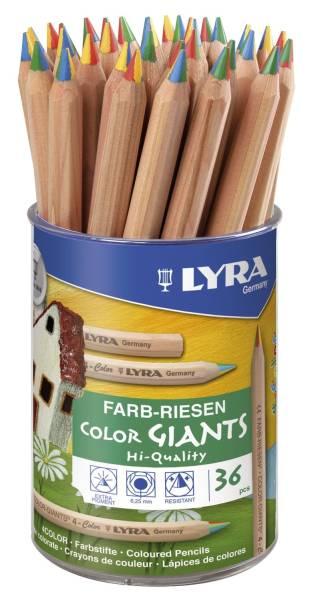 Farbstift Farb Riesen 4 Color naturbelassen, im Köcher
