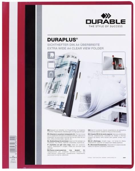 Angebotshefter DURAPLUS, strapazierfähige Folie, A4+, rot®