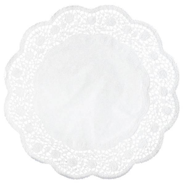 Tortenspitzen Ø 22 cm, 6 Stück, weiß
