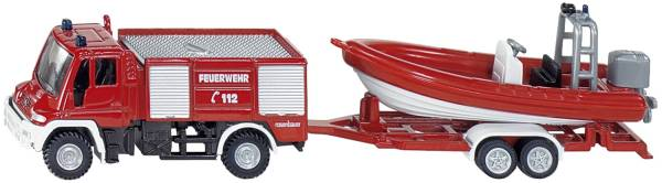 Unimog Feuerwehr mit Boot, Nr 1636