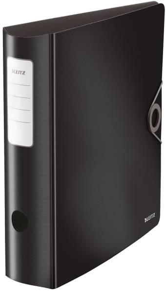 1047 Ordner 180° Active Solid A4, 8 cm, Innentaschen, Gummizug, schwarz