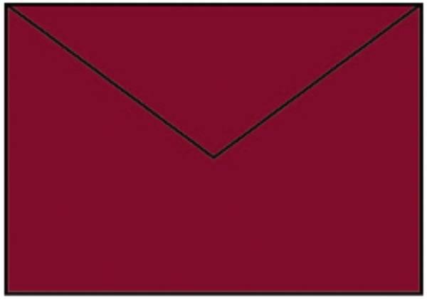 Coloretti Briefumschläge C5, 5 Stück, rosso