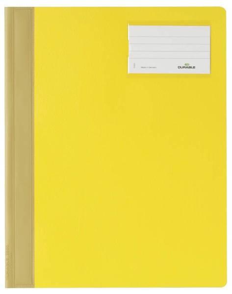 DURABLE Schnellhefter A4 überbreit gelb 2500 04 PVC