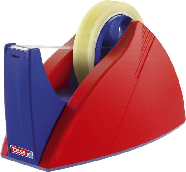 Tischabroller für Klebefilm tesa Easy Cut, 66 m x 25 mm, rot blau Abroller®