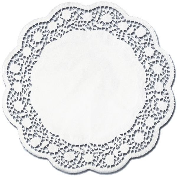 Tortenspitzen Ø 11 cm, 12 Stück, weiß