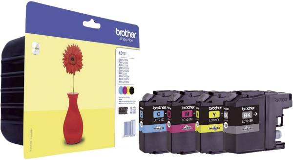 BROTHER Value Pack sw,c,m,y LC121VALBPDR
