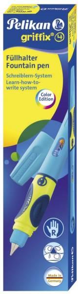 PELIKAN Füller Patrone A Griffix neonblau fresh 809160 P2NBR