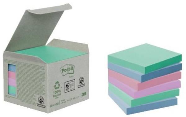 POST-IT Haftnotizblock 76x76mm pastell Rain 6541GB UWF 100Bl 6St