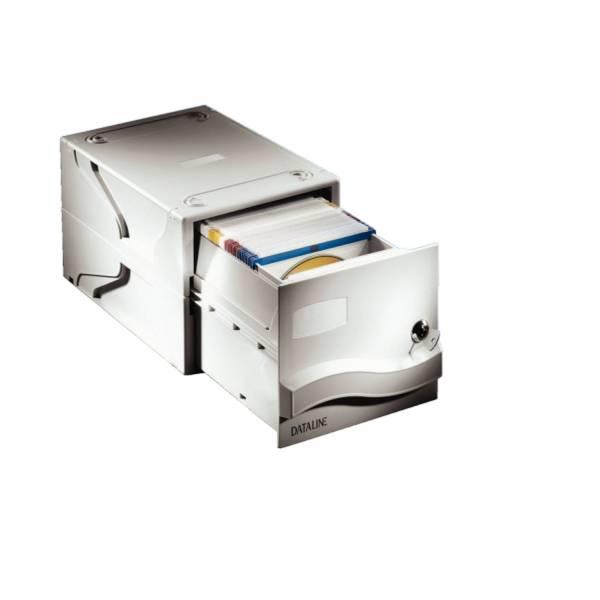 DATALINE CD Schubladenbox hellgrau 67092 für 160 CD