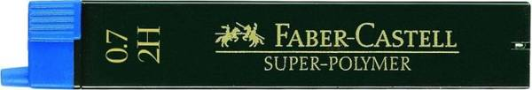 Feinmine SUPER POLYMER Stärke: 0,7 mm, Härtegrad: 2H, tiefschwarz