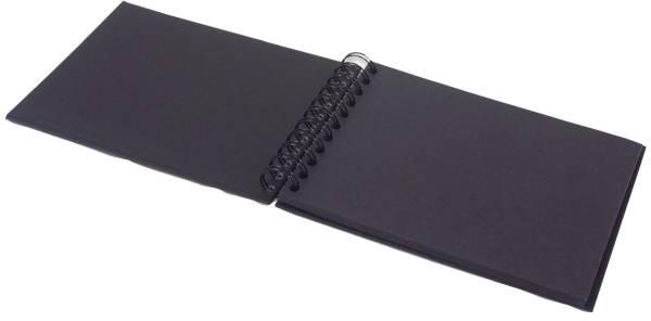 RÖSSLER Fotospiralbuch SOHO 19,5x14,5cm schwarz 1329452700 40Seiten