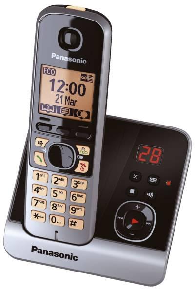 Telefon KX TG6721GB schnurlos titan schwarz