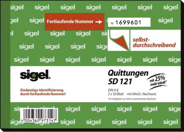 Quittungen mit Sicherheitsdruck A6 quer, SD, MP, 2 x 50 Blatt
