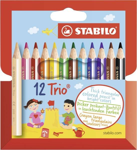 STABILO Farbstift Trio dick kurz 12er 205/12-01 Pl-Et Swano