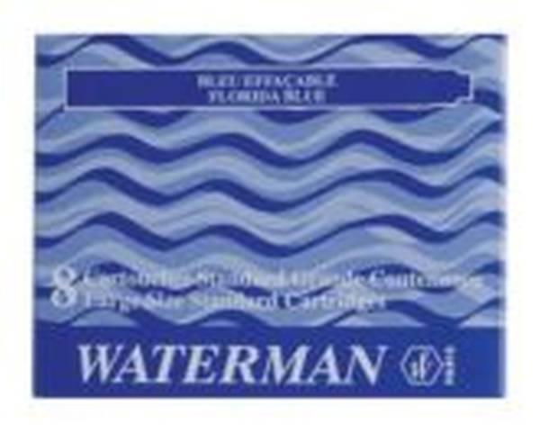 WATERMAN Tintenpatrone 8ST blau 200293-S0110860
