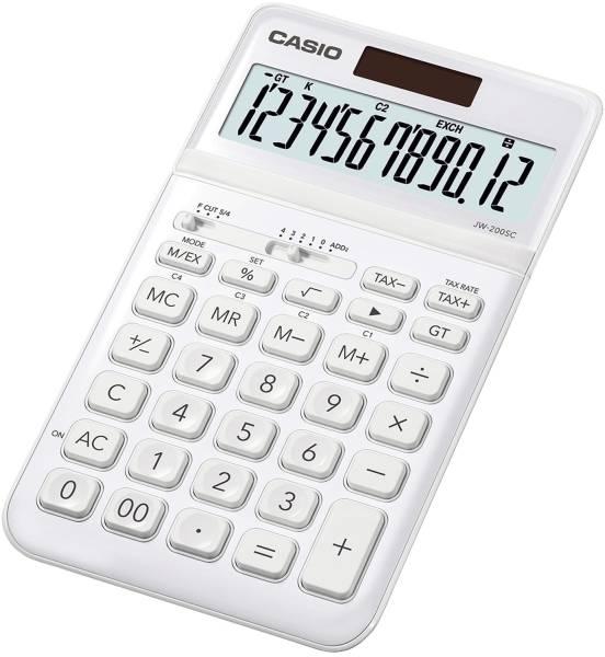 CASIO Tischrechner 12-stellig weiß JW-200SC-WE