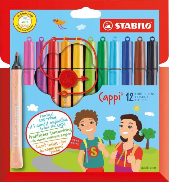 STABILO Faserschreiber Cappi 12 Farben sort. 168/12-4 Kartonetui