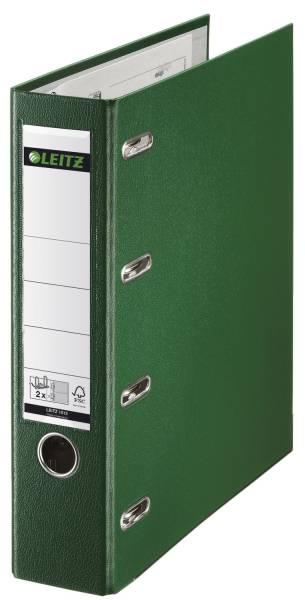 1012 Plastik Doppelordner 2x A5 quer, 75 mm, grün