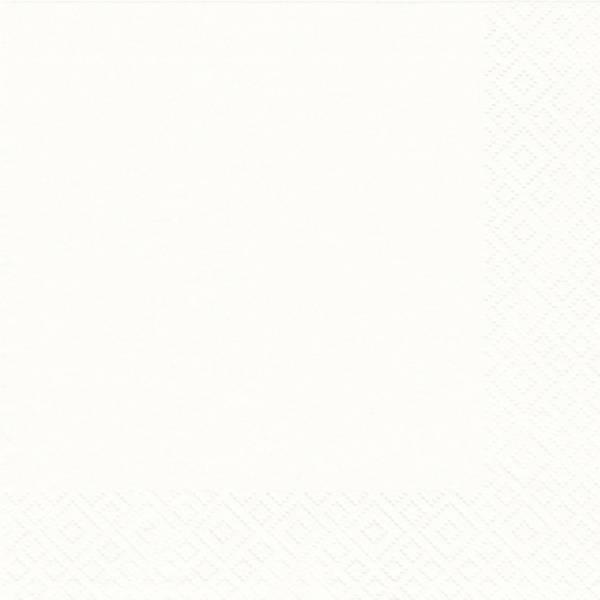 ATELIER Serviette Zelltuch 25x25cm weiß 1019-0001 1009-1001
