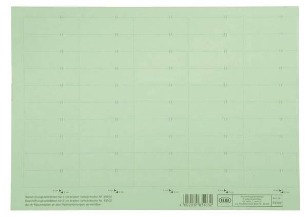 ELBA Beschriftungsschild 50ST grün 100420976 83582GN