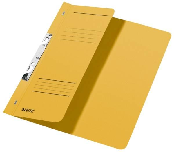 3744 Schlitzhefter, 1 2 Vorderdeckel, A4, kfm Heftung, Manilakarton 250 g qm, gelb