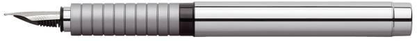 FABER CASTELL Füller Patrone M Essentio Metall 148500 Glanz
