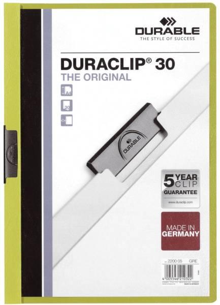 Klemm Mappe DURACLIP 30, DIN A4, grün®