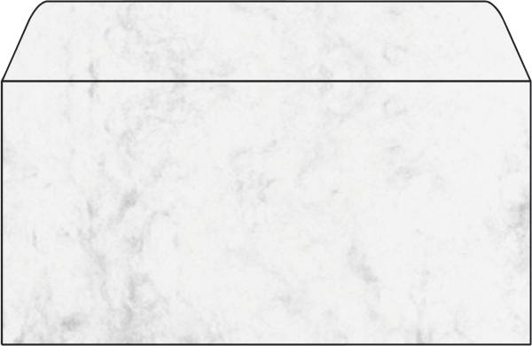 Umschlag, Marmor grau, DIN lang (110x220 mm), 90 g qm, 50 Umschläge