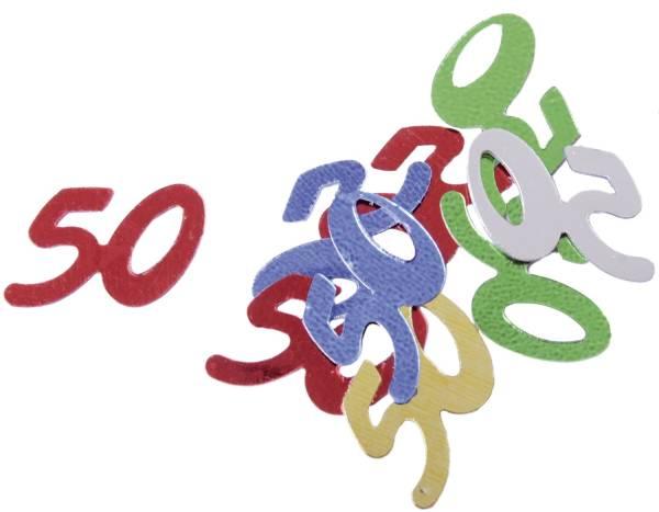 Konfetti Zahl 50 bunt 5099 10gr 50