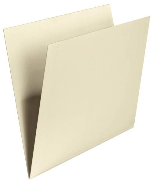 Einstellmappe mit Schreibrand chamois, Kraftkarton, 180 g qm