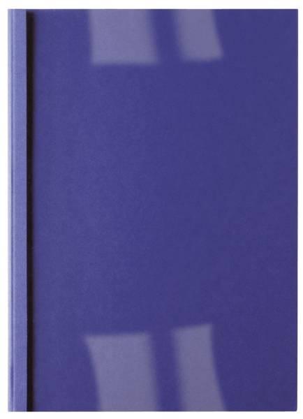 Thermomappe Lederoptik A4, 4 mm 40 Blatt, blau, 100 Stück
