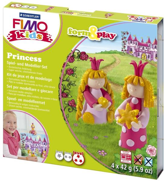 "Modelliermasse Kids Materialpackung Form & Play ""princess"", 4 x 42 g®"