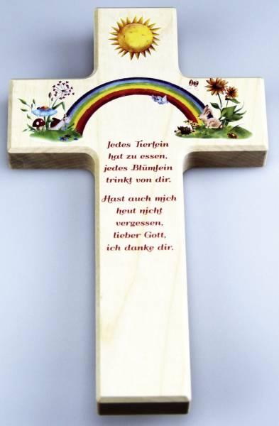 Kinderkreuz m.Spruch 458 20x12cm
