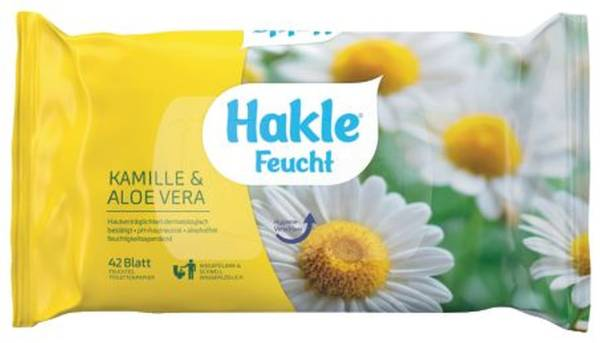 HAKLE Toilettenpapier feucht 42ST 80030 Kamille & Aloe Vera