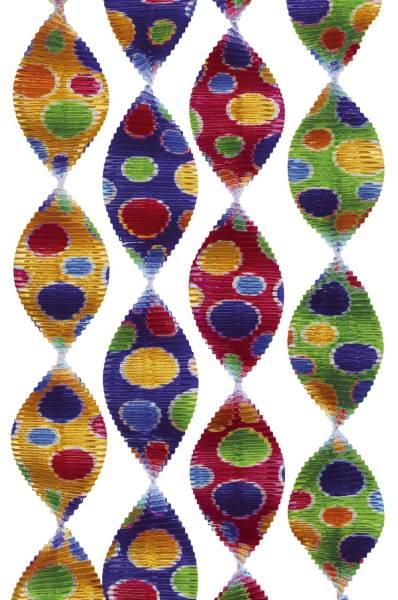 Girlande Rotorspirale Konfetti Ø 5 cm x 60 cm, 4er Pack