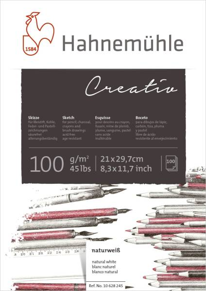 Skizzenblock Creativ A4 100 g qm 100 Blatt