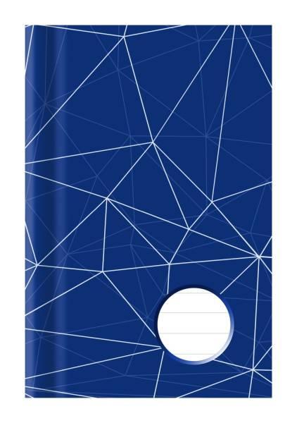 Kladde A6, liniert, blau weiß, 96 Blatt