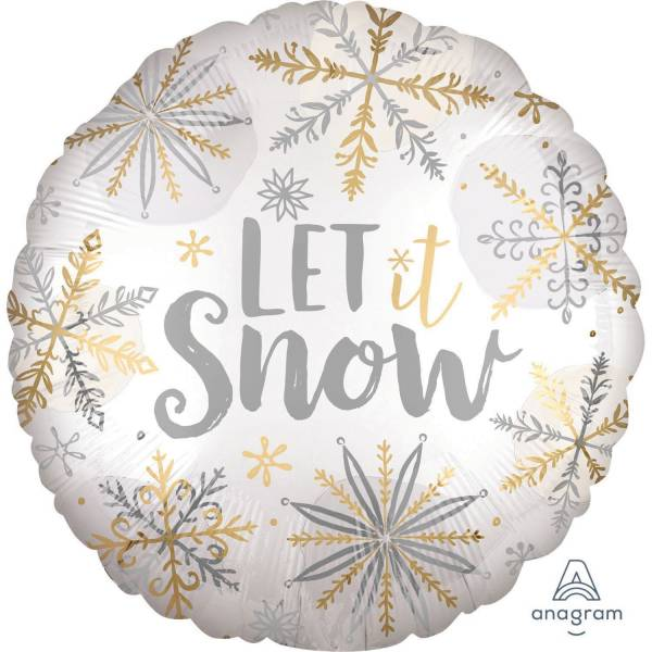 Folienballon Shining Let it Snow 860101