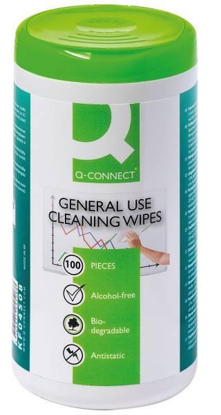 Q-CONNECT Reinigungtücher für Telefon KF04508 Dose 100ST