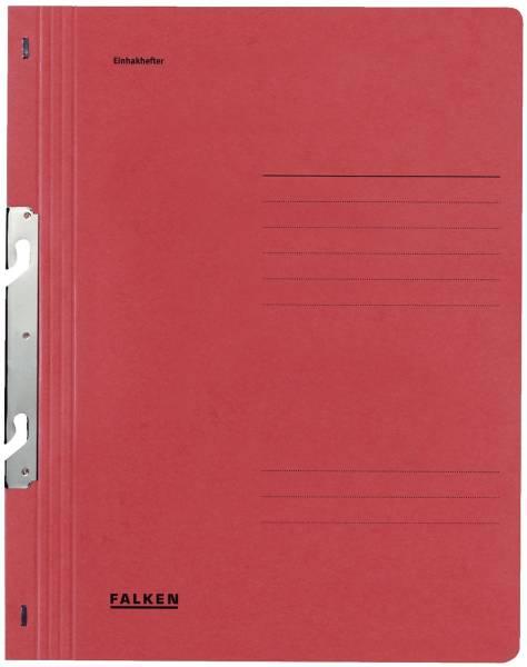 Einhakhefter A4 1 1 Vorderdeckel kfm Heftung, rot, Manilakarton, 250 g qm