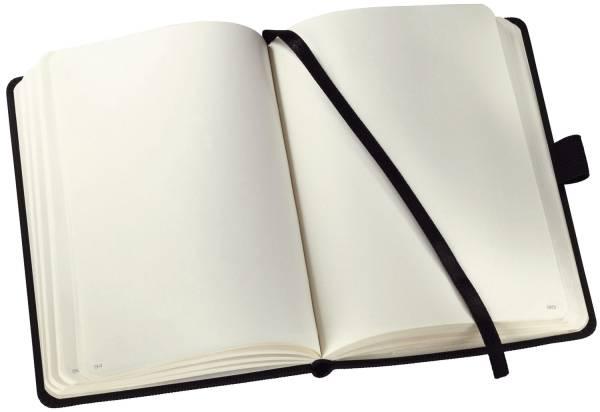 Notizbuch ca A5, blanko, 194 Seiten, schwarz, Hardcover®
