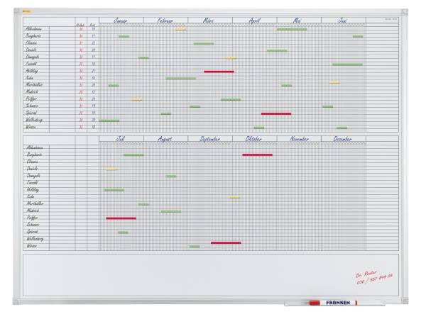 X tra!Line Kalender 30 Positionen, 120 x 90 cm®