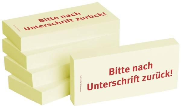 BIZSTIX Haftnotiz n.Unterschr.zurück 1301010141