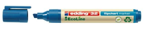 EDDING Flipchartmarker 32 Eco Line 1-5mm blau 32-003 nachfüllbar Keilspitze