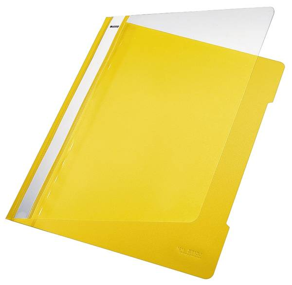 4191 Schnellhefter A4, langes Beschriftungsfeld, PVC, gelb