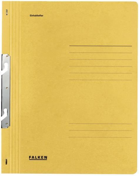 Einhakhefter A4 1 1 Vorderdeckel kfm Heftung, gelb, Manilakarton, 250 g qm