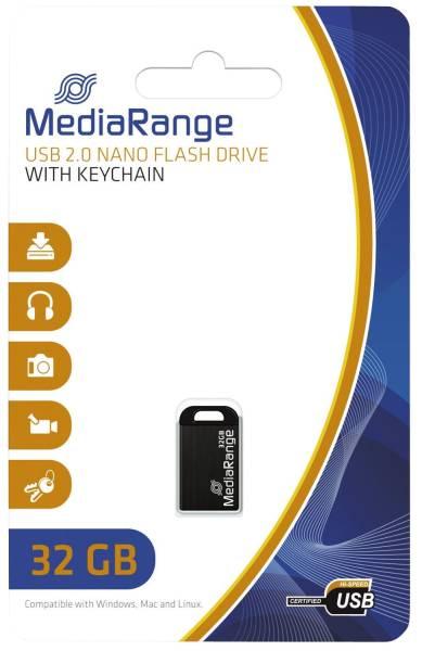 MEDIARANGE USB Stick mini 32GB MR922