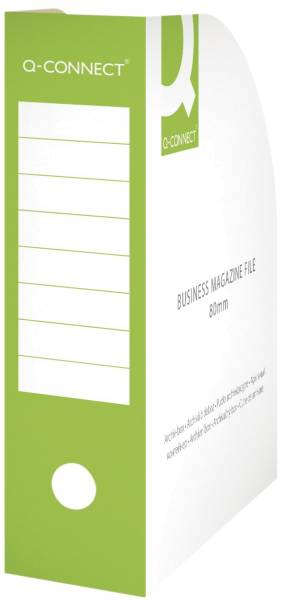 Q-CONNECT Stehsammler A4 80mm grün KF15845 Karton