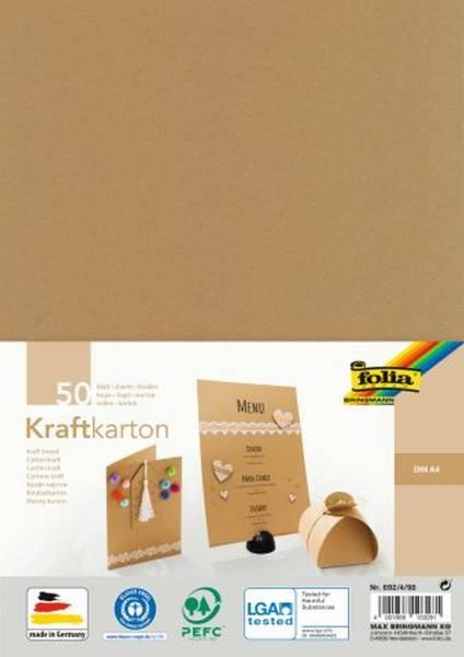 FOLIA Kraftkarton A4 50BL natur 692/4/98 230g