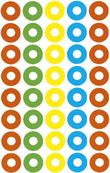 3055 Schule Verstärkungsring rot grün gelb blau Papier selbstklebend 4 Bögen 160 ST